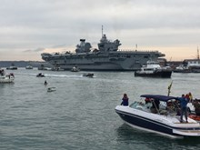 SECURITY BUOYS LAID OUTBOARD HMS QUEEN ELIZABETH