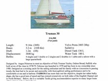 For Sale - Truman 30