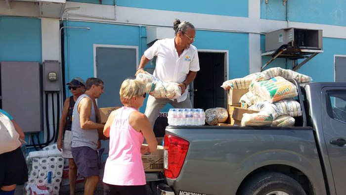 Trinidad cruisers collected aid for Dominica onto FOX FIRE II.