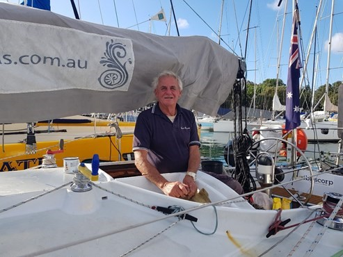 Jon Sanders is preparing for his 11th solo circumnavigation