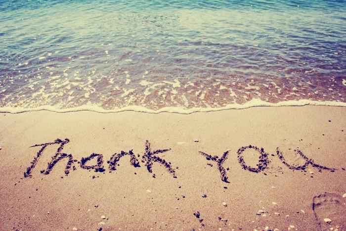 Expression of gratitude!