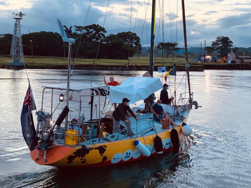 Jon Sanders AO OBE Transits the Panama Canal