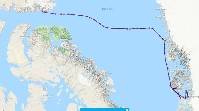 The OCC Fleet Map now shows vessel position via satellite feed