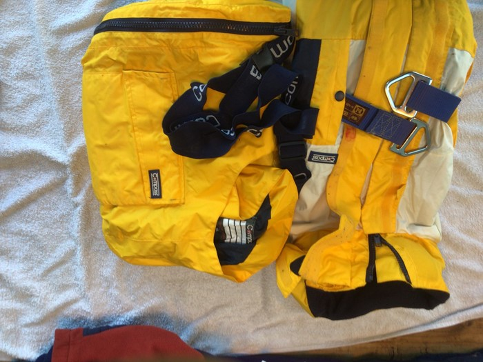 FREE, USED: Sailing clothing, flags and nav tools.