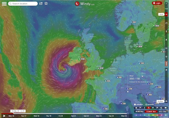ex-Hurricane Ophelia batters Ireland