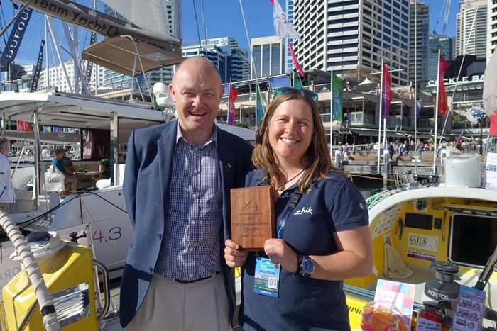 Lisa Blair receives the OCC Seamanship Award in Sydney