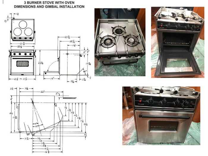 3 Burner Oven