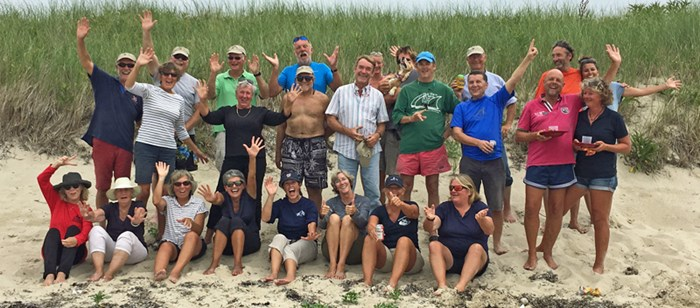 OCC Members On The Beach At Cuttyhunk
