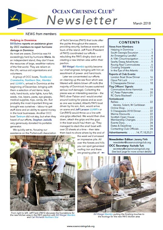 OCC Newsletter March 2018 now available online