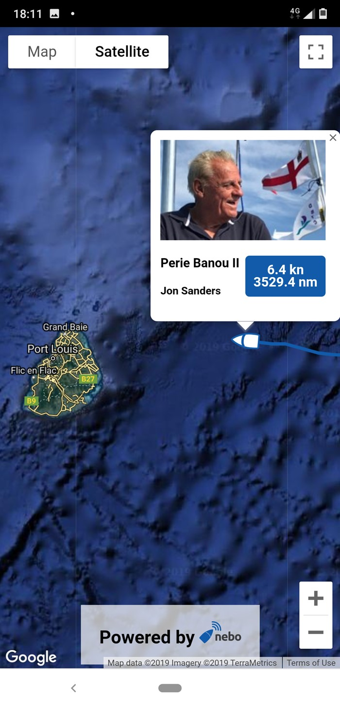 Jon Sanders is approaching Mauritius!