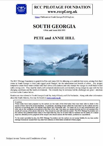 South Georgia 1995